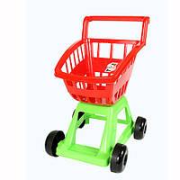 Детская тележка для супермаркета с набором овощей