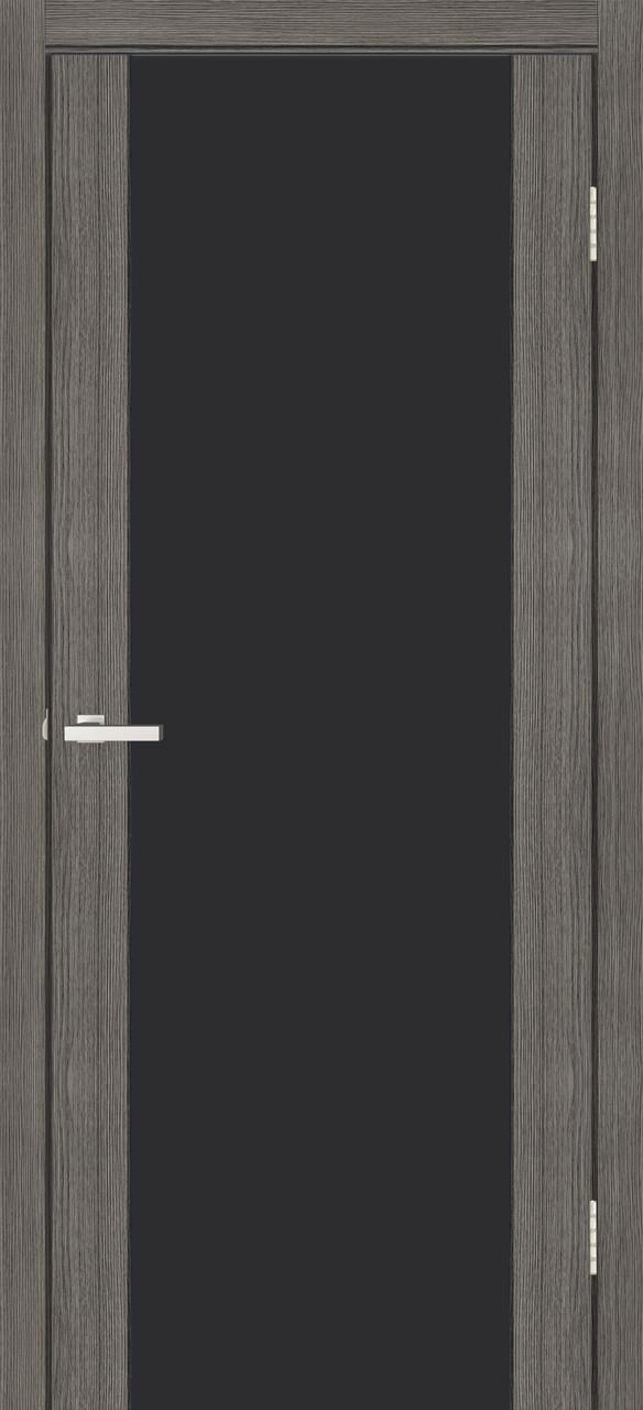 Двері міжкімнатні Оміс Cortex Gloss triplex чорний