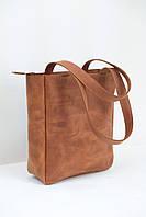 Женская сумка-шоппер №110 Винтаж цвет коньяк