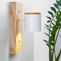 Бра в стиле лофт Дизайнерский белый настенный светильник