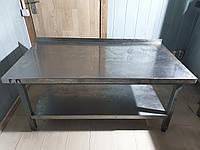 Комбинированный стол бу. Нержавеющий стол бу Стол 1,3 м. бу
