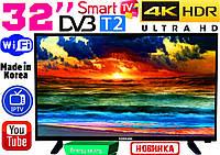 "НОВЫЕ телевизоры Samsung SmartTV Slim 32"" 4K 3840x2160,LED, IPTV, Android, T2, WIFI, USB, КОРЕЯ"