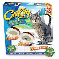 Система приучения кошек к унитазу Citi Kitty Cat Toilet Training, туалет для котов, сити кити