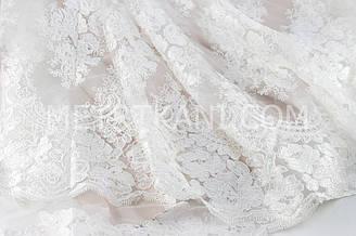 Гипюр ажурный жемчужного цвета ширина 1.4 см  № ГП - 01