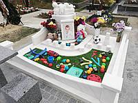 Детский памятник с ангелочком на тучке № 54