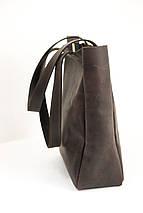 Шоппер Марго Вінтажна шкіра колір Шоколад, фото 2