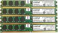 Комплект оперативной памяти Crucial DDR2 8Gb (4*2Gb) 800MHz PC2 6400U 2R8 CL6 (CT25664AA800.M16VFH) Б/У, фото 1