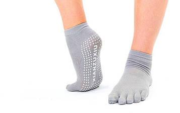 Шкарпетки для йоги і танців з пальцями (поліестер, бавовна, PVC, р-р 36-41)