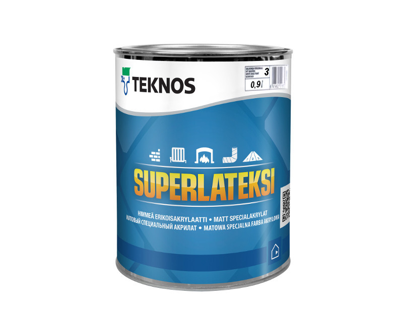 Краска латексная TEKNOS SUPER LATEKSI интерьерная транспарентная (база 3) 0,9л