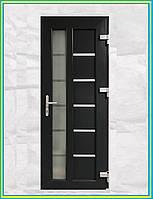 Двери входные металлопластиковые с окном