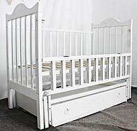 Ліжко  дитяче, шарнір-підшипник/ Бук / SOLO з різьбою /Люкс /відк. буков./ шухляда / фіксатор / Babybrok