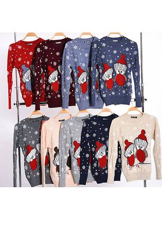 Шерстяні жіночі светри з новорічними оленями оптом і в роздріб G 4724, фото 2