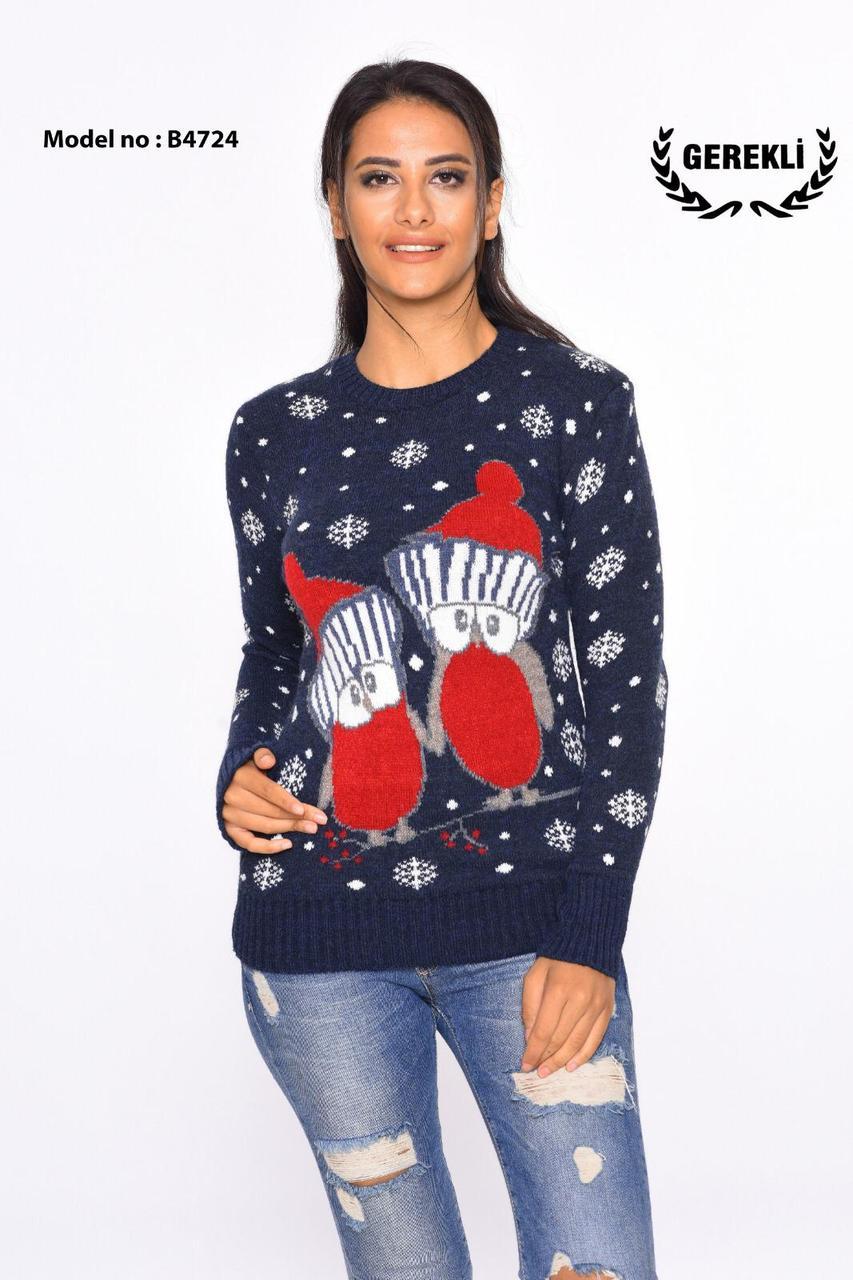 Шерстяні жіночі светри з новорічними оленями оптом і в роздріб G 4724
