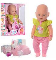 Красивая кукла Беби борн с одеждой и аксессуары