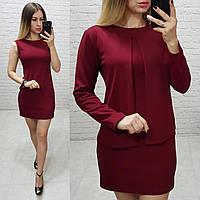 Костюм женский платье и накидка в расцветках 41000, фото 1