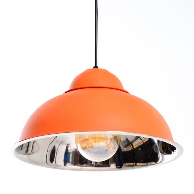 Люстра подвесная на одну лампу  Atmolight Bell P360 Оранжевый (1377)