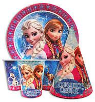 """Набор одноразовой посуды - """"Холодное сердце"""", """"Frozen"""""""