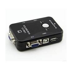 2-портовый KVM свич-переключатель для компьютеров USB + VGA Модель KVM21UA, фото 22-портовый KVM свич-переклю