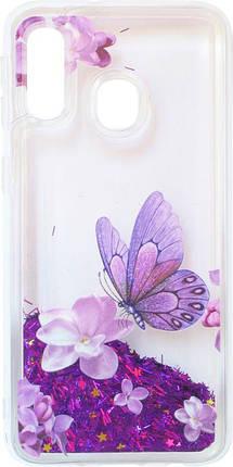 Накладка SA A405 violet baterfly аквариум, фото 2