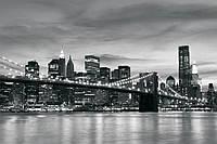 Фотообои флизелиновые на стену 368х254 см 4 листа: Светящийся Бруклинский мост