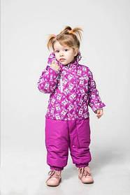 Термо-комбінезон для дівчаток Зима панда рожевий поліестер Baby Line Україна