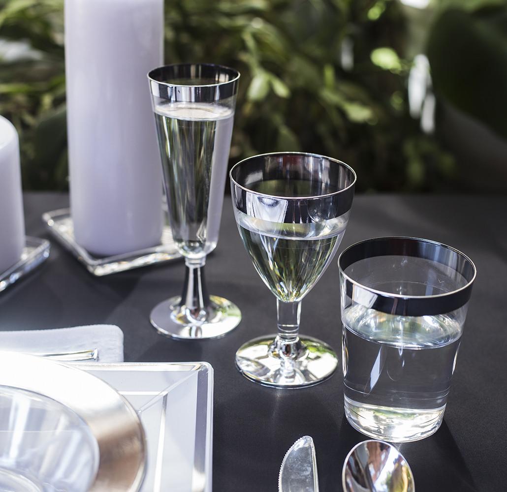 Бокал винный пластиковый многоразовый не гнутся для пикника. Полная сервировка стола. CFP 6 шт 130 мл