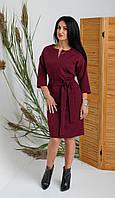 Бордовое женское платье для в деловом стиле размер: 44