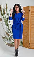 Модное женское приталенное платье миди электрик размер: 44,46,48