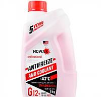 Антифриз G12+ красный  -42°C 1л NOWAX