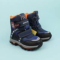 Термо ботинки для мальчика на двух липучках тм Том.м размер 26,27