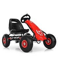Детская педальная машина веломобиль Карт M 3586AL-3