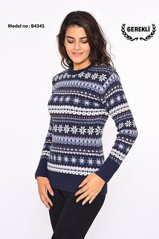 Шерстяні жіночі светри новорічні оптом і в роздріб G 4345, фото 2