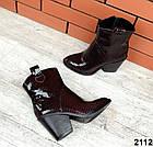 Женские демисезонные ботинки бордового цвета, натуральная кожа 36 37 ПОСЛЕДНИЕ РАЗМЕРЫ, фото 2