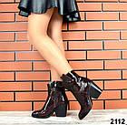 Женские демисезонные ботинки бордового цвета, натуральная кожа 36 37 ПОСЛЕДНИЕ РАЗМЕРЫ, фото 6