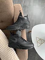 "Зимние кроссовки Nike Air Max 90 Sneakerboot ""All Black"", фото 1"