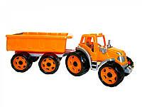 Трактор с прицепом ТехноК 3442 яркий пластиковый трактор с прицепом сзади