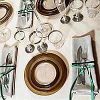 Ножи стекловидные негнущиеся , серебро для корпоротивов, event. Полная сервировка стола. CFP 12 шт 200 мм, фото 1