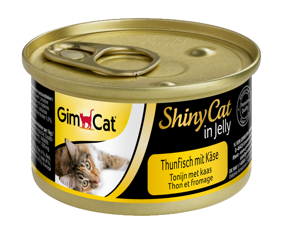 Консервы для кошек с тунцом и сыром GimCat ShinyCat in jelly в желе 70 г