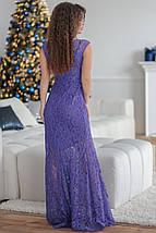 """Вечернее платье гипюр в пол """"КАПРИЗ"""" с коротким рукавом, фото 3"""
