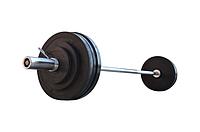 Штанга для жима обрезиненная RN-Sport 105 кг с олимпийским грифом 220 см, фото 1