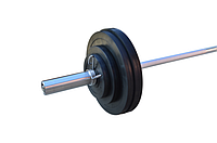 Штанга обрезиненная RN-Sport  80 кг с олимпийским грифом, фото 1