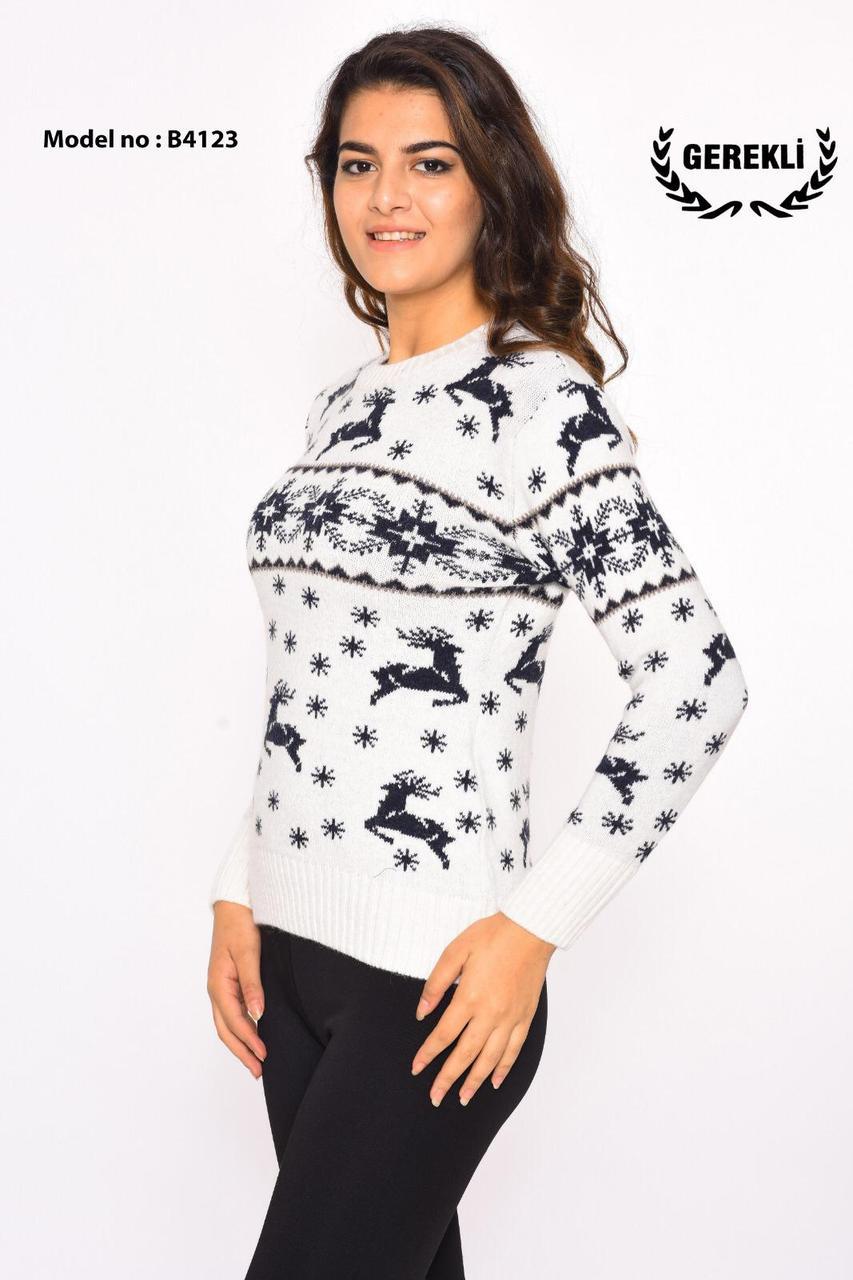Шерстяні жіночі светри новорічні оптом і в роздріб G 4123