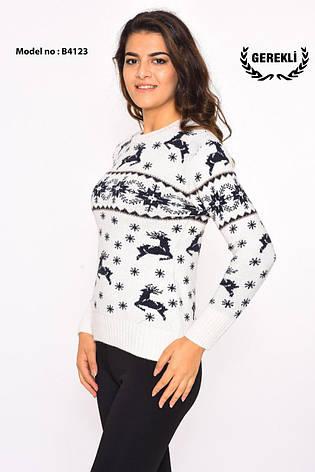 Шерстяні жіночі светри новорічні оптом і в роздріб G 4123, фото 2