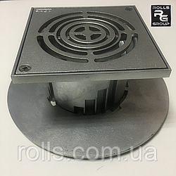 SitaMore террасная насадка 156х156мм Трап алюминиевый для водосточных воронок дренажный Надставной элемент