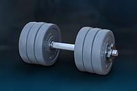 """Гантель 9 кг """"GRAY"""" от RN-Sport с хром грифом, фото 1"""