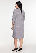Эффектное женское  платье в модную клеточку батал   50-56 размер, фото 2