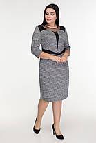 Эффектное женское  платье в модную клеточку батал   50-56 размер, фото 3