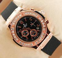 Женские часы Hublot золотые с камнями, часы Хаблот