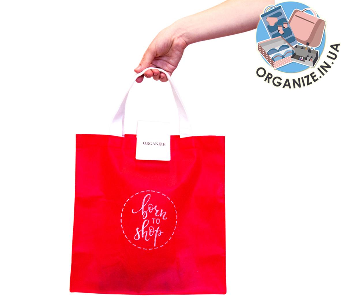 Складная сумка для покупок/Shopper bag эконом (красный)