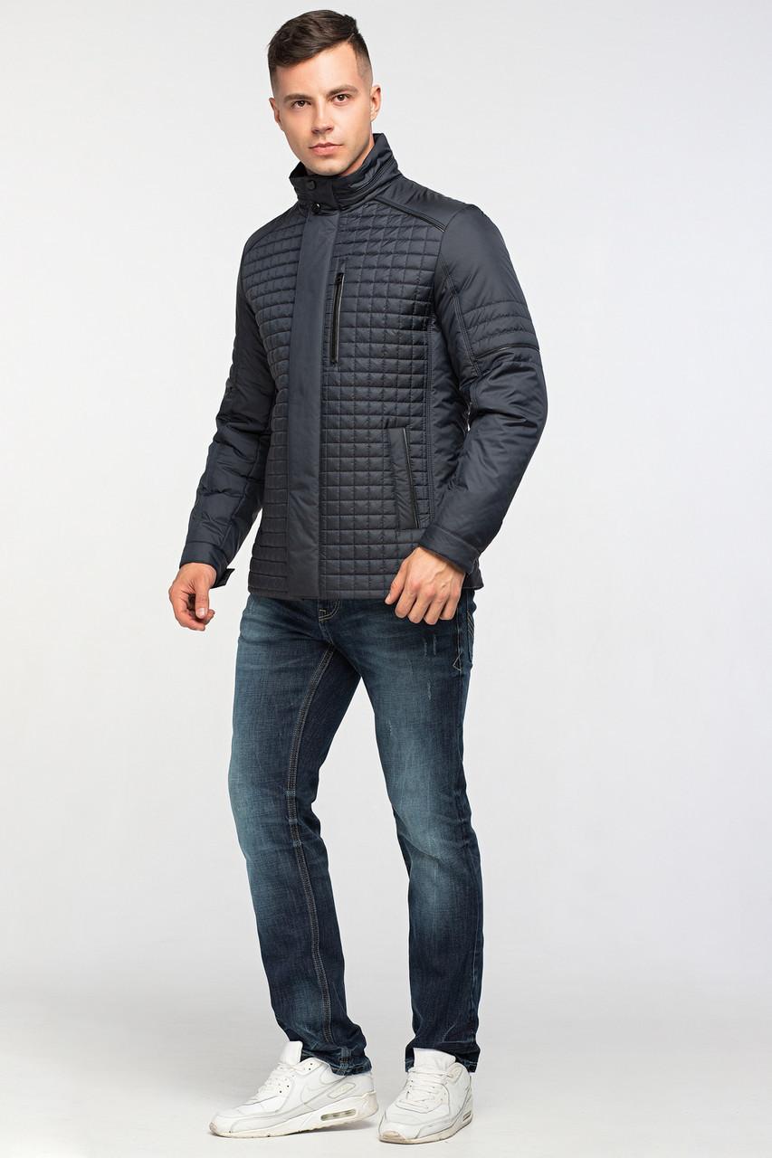Мужская демисезонная классическая куртка темно-синяя